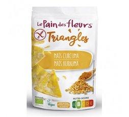 Triángulos de maíz y cúrcuma