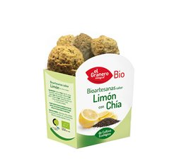 Galletas Artesanas sabor Limón con Chía Bio