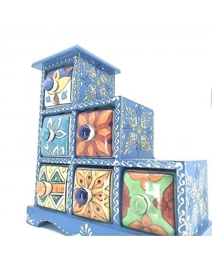 Especiero 6 Cajones Azul