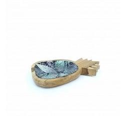 Concha Decorativa de Nácar y Teca Piña