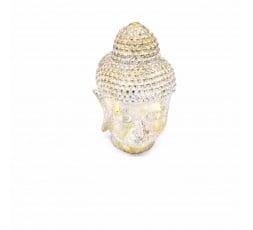 Cabeza Budha Resina Blanca