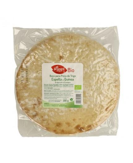 Base Para Pizza de Trigo Espelta Integral y Quinoa Bio