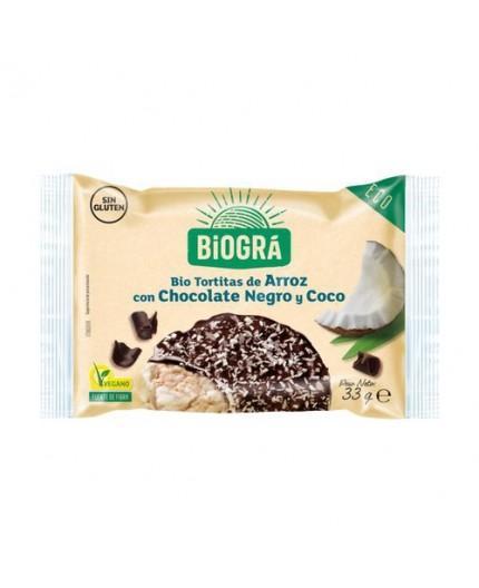 Tortitas De Arroz Con Chocolate Negro Y Coco Bio