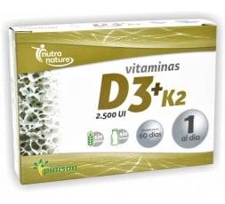 Vitaminas D3+K2.