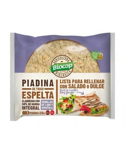 Piadina de Trigo Espelta con Semillas de Lino y Amapola
