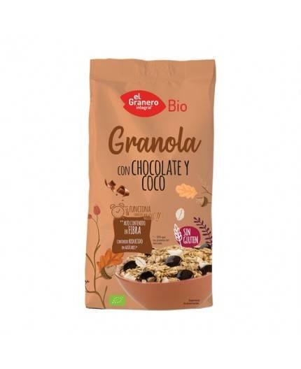 Granola Con Chocolate Y Coco