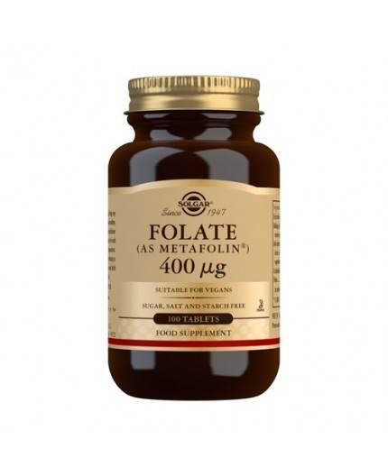 Folato (Metafolin) 400 mcg.