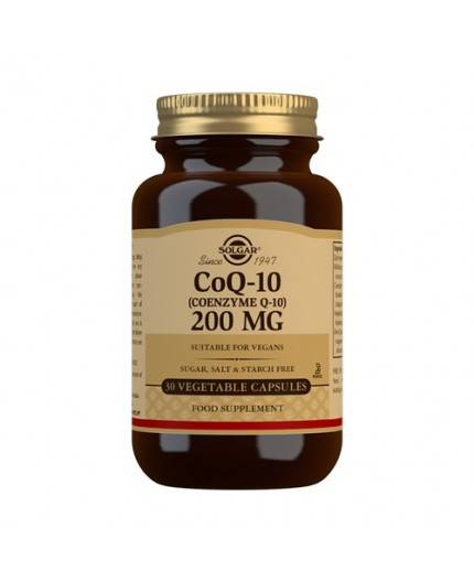 Coenzima CoQ10 200 mg.