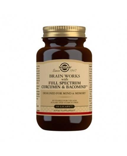Brain Works con Full Spectrum Curcuma y BacoMind