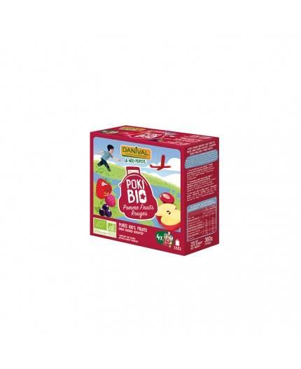 Pack De 8 Smoothies De Frutos Rojos Y Manzana Bio