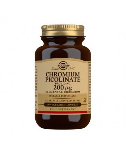 Picolinato de Cromo 200 mg.