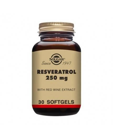 Resveratrol 250 mg. con Extracto de Vino Tinto