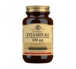 Vitamina K2 100 μg con MK-7 natural (Extracto de Natto)