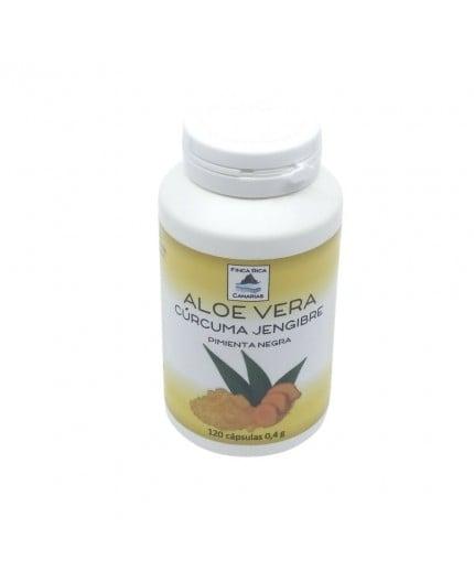 Cápsulas Aloe Vera, Cúrcuma, Jengibre y Pimienta Negra