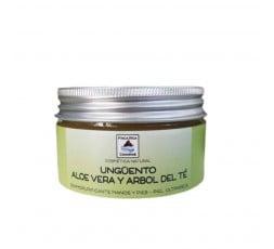 Ungüento Con Aloe Vera y Aceite Esencia De Arbol Del Te